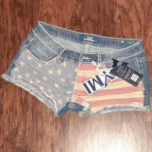 NWTs YMI Flag Shorts